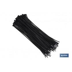 Brida negra cofan 100 unidades